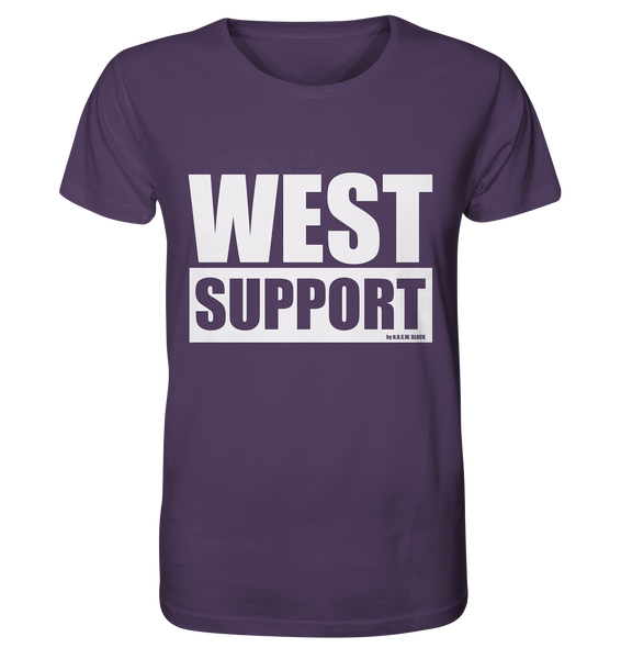 "Fanblock Shirt ""WEST SUPPORT"" Organic Männer T-Shirt lila"