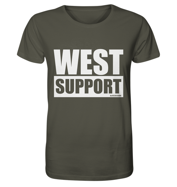 "Fanblock Shirt ""WEST SUPPORT"" Organic Männer T-Shirt khaki"