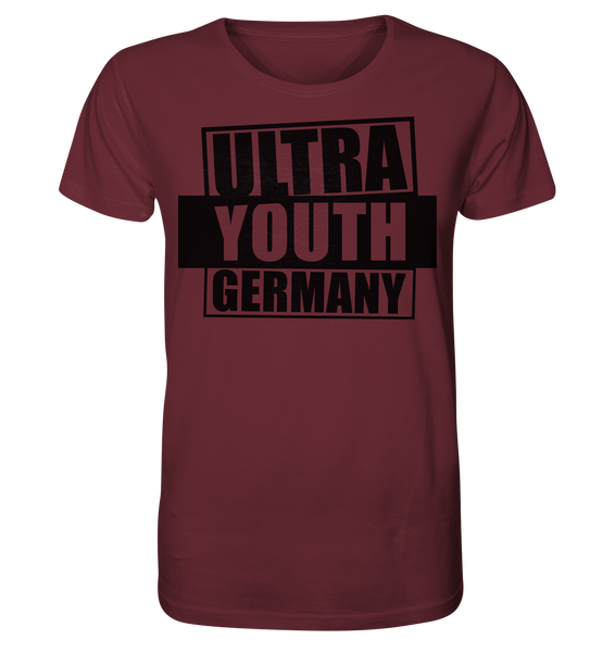 "Ultras Shirt ""ULTRA YOUTH GERMANY"" Männer Organic T-Shirt weinrot"