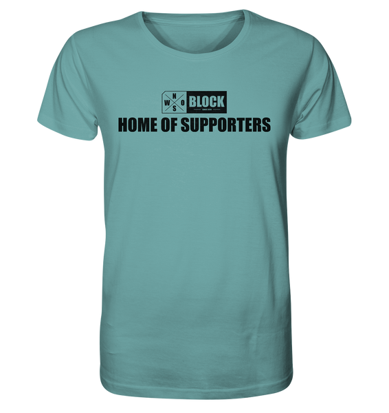 "N.O.S.W. BLOCK Shirt ""HOME OF SUPPORTERS"" Männer Organic Rundhals T-Shirt citadel blue"