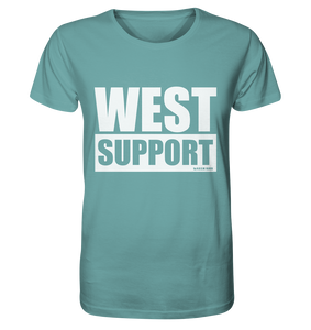 "Fanblock Shirt ""WEST SUPPORT"" Organic Männer T-Shirt ditadel blue"