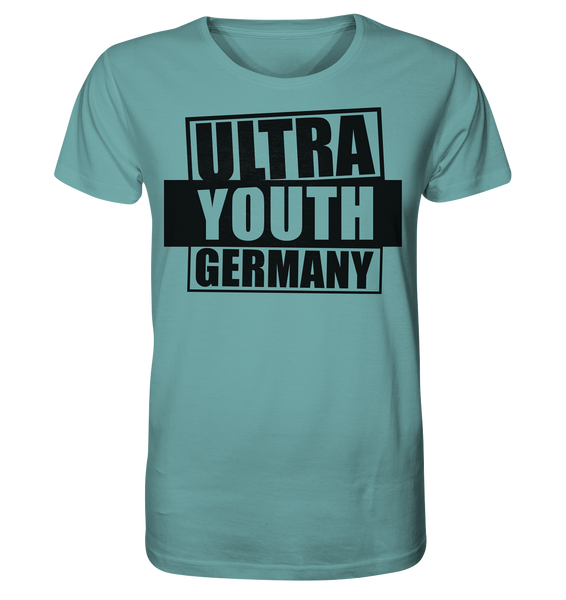 "Ultras Shirt ""ULTRA YOUTH GERMANY"" Männer Organic T-Shirt citadel blau"