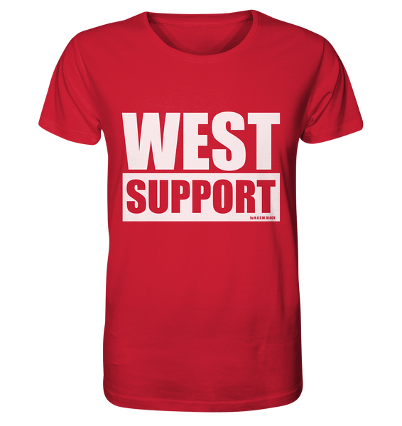 "Fanblock Shirt ""WEST SUPPORT"" Organic Männer T-Shirt rot"
