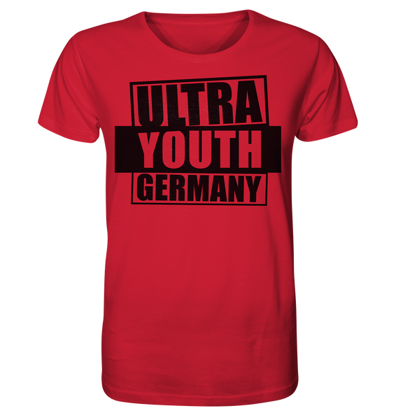 "Ultras Shirt ""ULTRA YOUTH GERMANY"" Männer Organic T-Shirt rot"