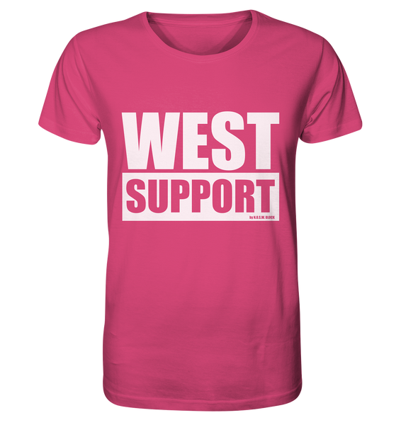 "Fanblock Shirt ""WEST SUPPORT"" Organic Männer T-Shirt pink"