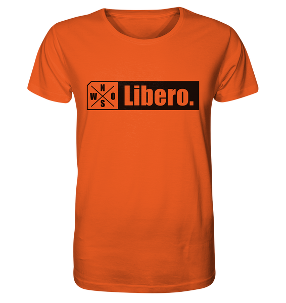 "Teamsport Shirt ""Libero."" Männer Organic T-Shirt orange"