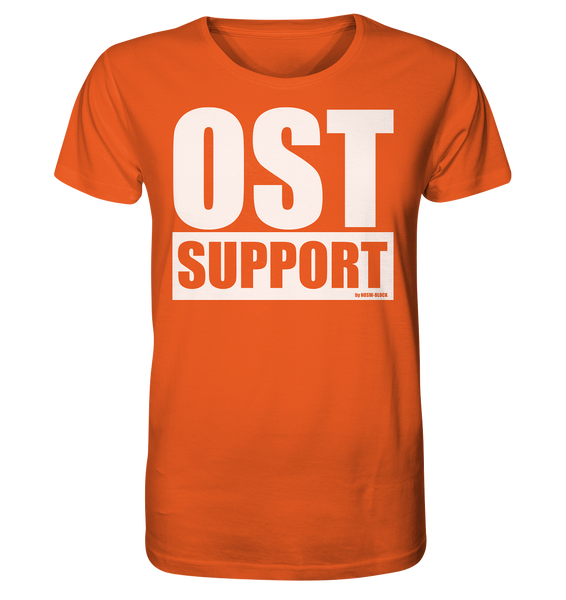 "Fanblock Shirt ""OST SUPPORT"" Männer Organic Rundhals T-Shirt orange"