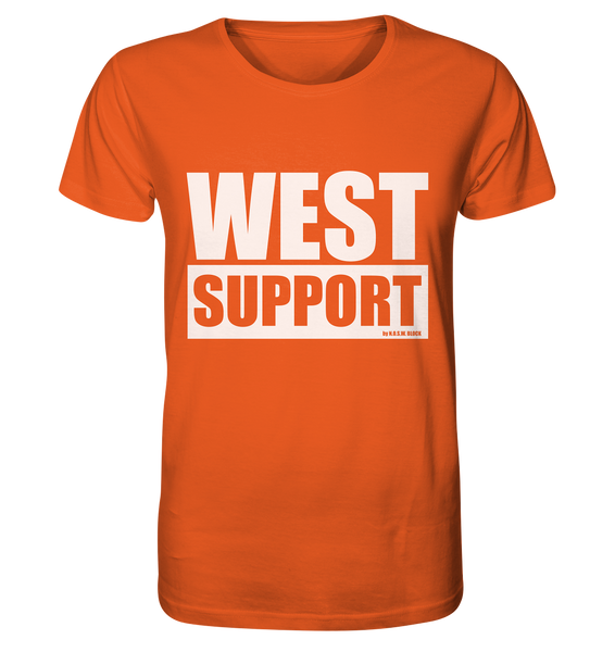 "Fanblock Shirt ""WEST SUPPORT"" Organic Männer T-Shirt orange"