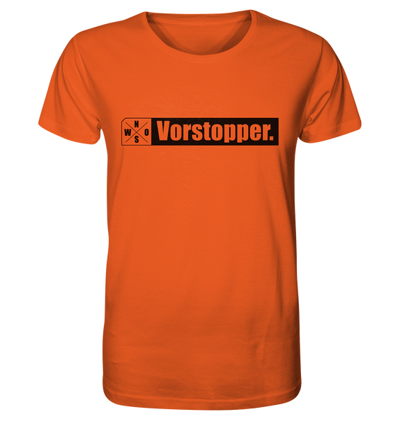 "Teamsport Shirt ""Vorstopper."" Männer Organic T-Shirt orange"