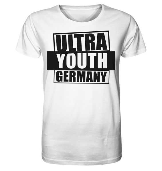 "Ultras Shirt ""ULTRA YOUTH GERMANY"" Männer Organic T-Shirt weiss"