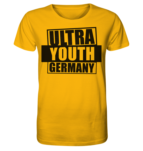 "Ultras Shirt ""ULTRA YOUTH GERMANY"" Männer Organic T-Shirt gelb"