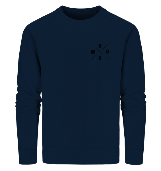 "N.O.S.W. BLOCK Sweater ""N.O.S.W. ICON"" Männer Organic Sweatshirt navy"