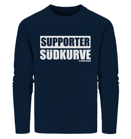 "Fanblock Sweater ""SUPPORTER SÜDKURVE"" Männer Organic Sweatshirt navy"