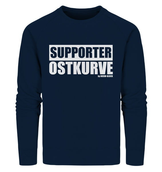 "Fanblock Sweater ""SUPPORTER OSTKURVE"" Männer Organic Sweatshirt navy"