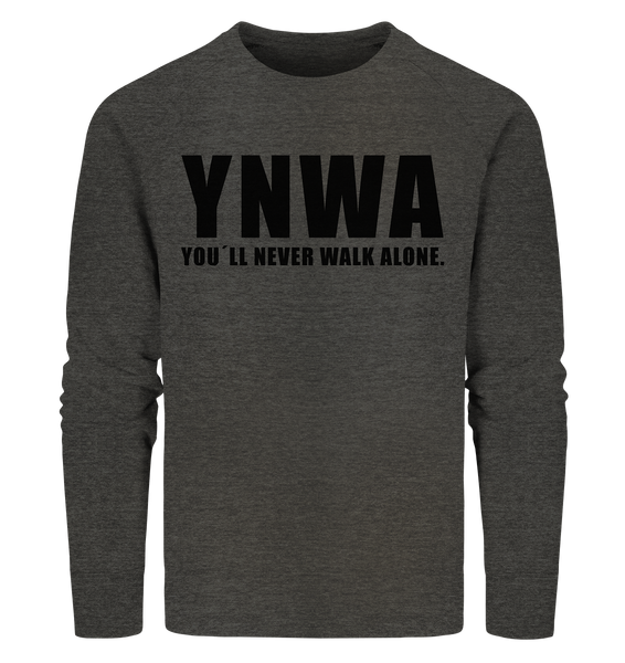 "Fanblock Sweater ""YNWA"" Männer Organic Sweatshirt dark heather grau"