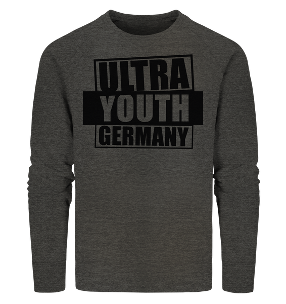 "Ultras Sweater ""ULTRA YOUTH GERMANY"" Männer Organic Sweatshirt dark heather grau"