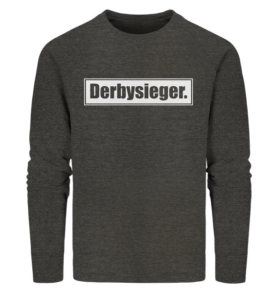 "Fanblock Sweater ""Derbysieger."" Männer Organic Sweatshirt dark heather grau"