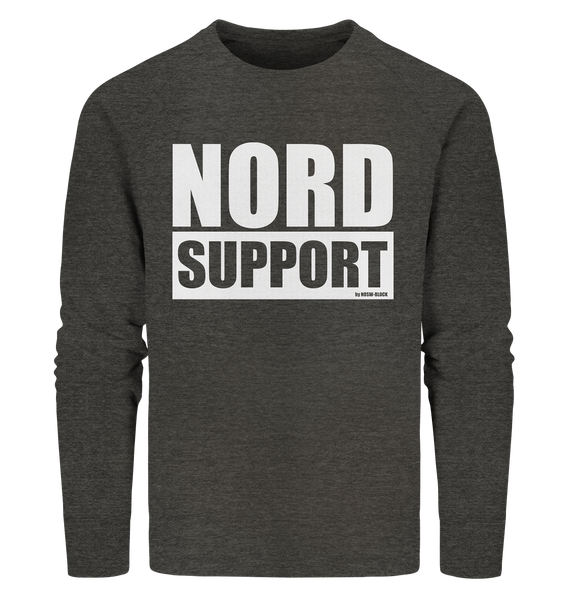 "Fanblock Sweater ""NORD SUPPORT"" Männer Organic Sweatshirt dark heather grau"