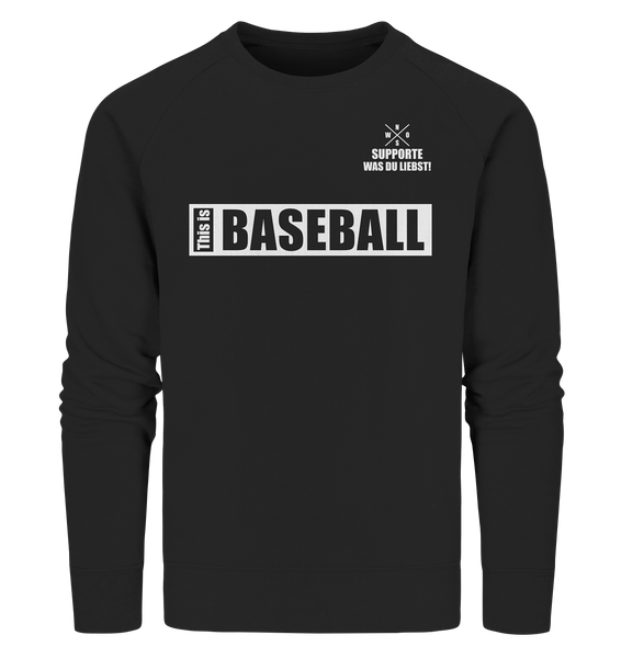 "Teamsport Sweater ""THIS IS BASEBALL"" Männer Organic Sweatshirt schwarz"