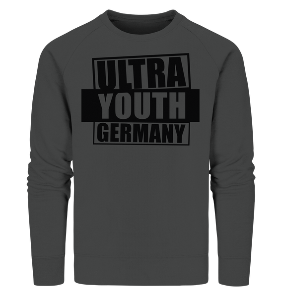 "Ultras Sweater ""ULTRA YOUTH GERMANY"" Männer Organic Sweatshirt anthrazit"