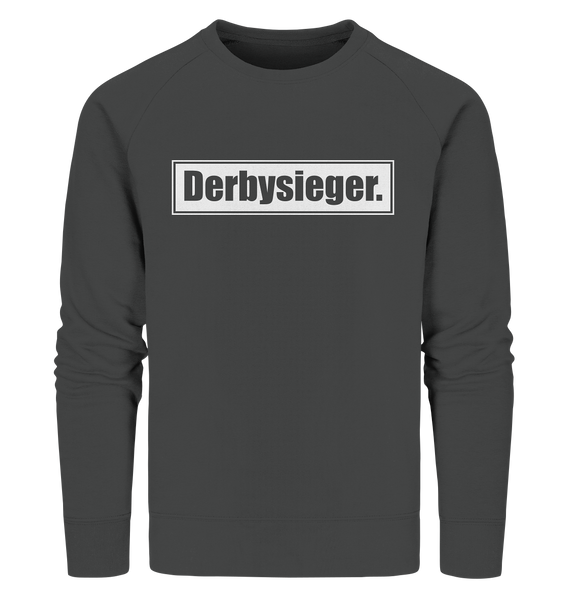 "Fanblock Sweater ""Derbysieger."" Männer Organic Sweatshirt anthrazit"