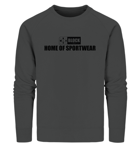 "N.O.S.W. BLOCK Sweater ""HOME OF SPORTWEAR"" Männer Organic Sweatshirt anthrazit"