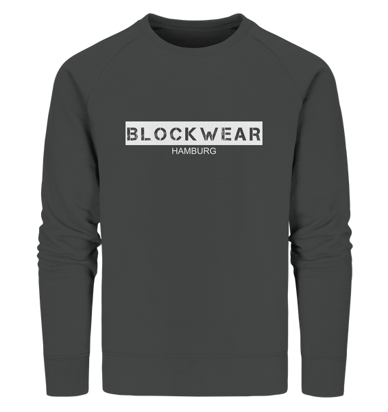 "N.O.S.W. BLOCK Sweater ""BLOCKWEAR HAMBURG"" Männer Organic Sweatshirt anthrazit"