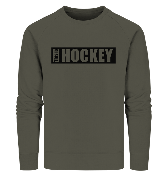 "Teamsport Shirt ""THIS IS HOCKEY"" Männer Organic V-Neck T-Shirt (100% Bio-Baumwolle) - Organic Sweatshirt"