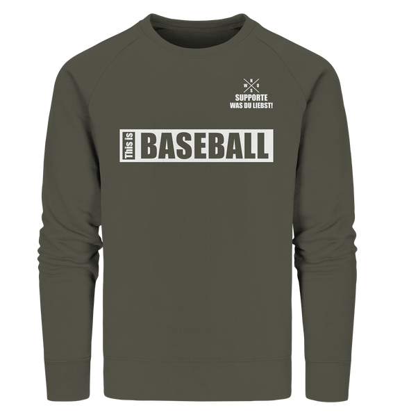 "Teamsport Sweater ""THIS IS BASEBALL"" Männer Organic Sweatshirt khaki"
