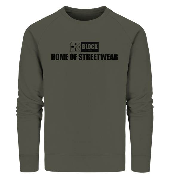 "N.O.S.W. BLOCK Sweater ""HOME OF STREETWEAR"" Männer Organic Sweatshirt khaki"