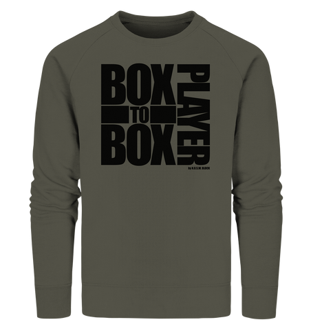 "Fanblock Sweater ""BOX TO BOX PLAYER"" Männer Organic Sweatshirt khaki"
