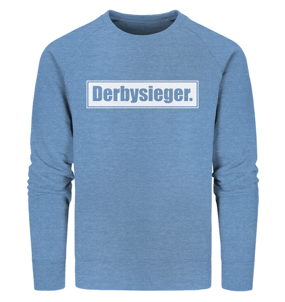 "Fanblock Sweater ""Derbysieger."" Männer Organic Sweatshirt mid heather blau"