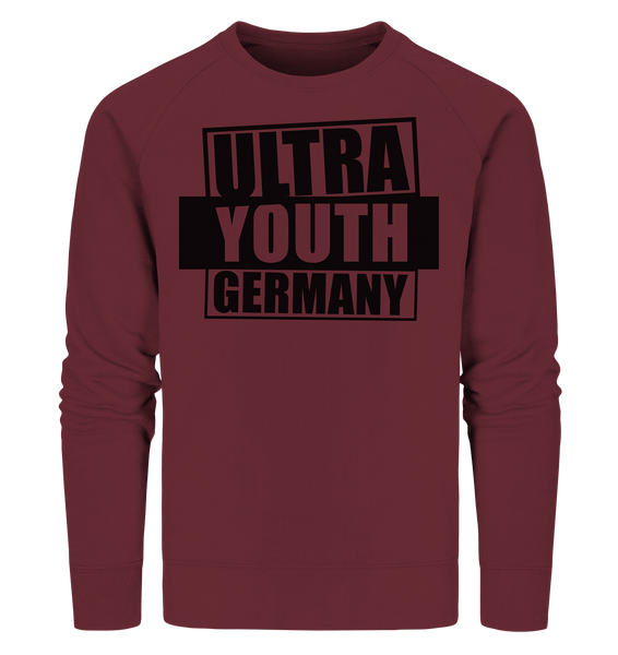 "Ultras Sweater ""ULTRA YOUTH GERMANY"" Männer Organic Sweatshirt weinrot"