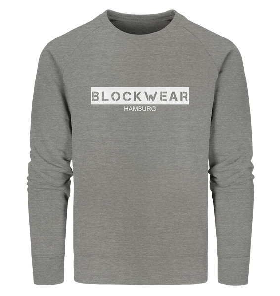 "N.O.S.W. BLOCK Sweater ""BLOCKWEAR HAMBURG"" Männer Organic Sweatshirt mid heather grau"