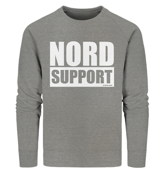 "Fanblock Sweater ""NORD SUPPORT"" Männer Organic Sweatshirt mid heather grau"