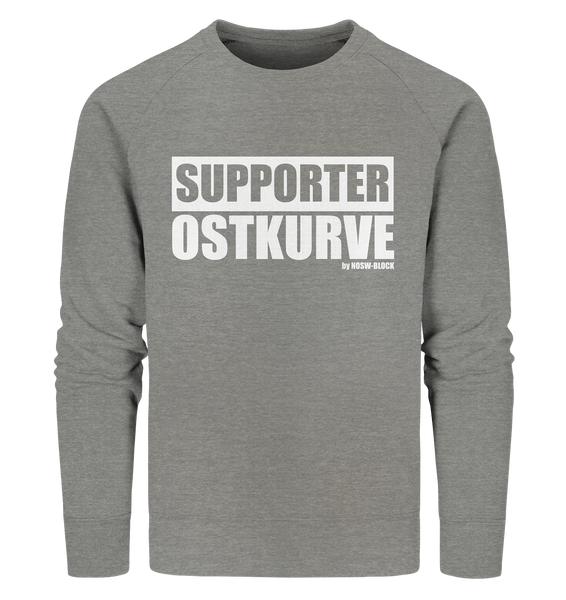 "Fanblock Sweater ""SUPPORTER OSTKURVE"" Männer Organic Sweatshirt mid heather grau"