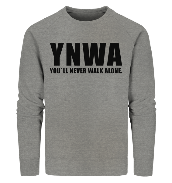 "Fanblock Sweater ""YNWA"" Männer Organic Sweatshirt mid heather grau"