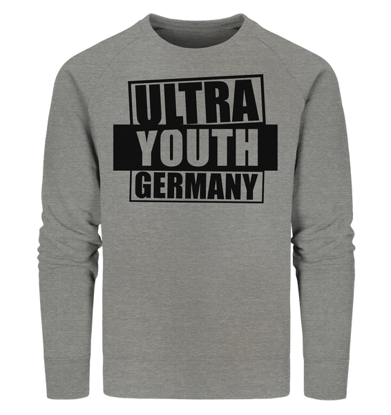 "Ultras Sweater ""ULTRA YOUTH GERMANY"" Männer Organic Sweatshirt mid heather grau"