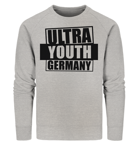 "Ultras Sweater ""ULTRA YOUTH GERMANY"" Männer Organic Sweatshirt heather grau"