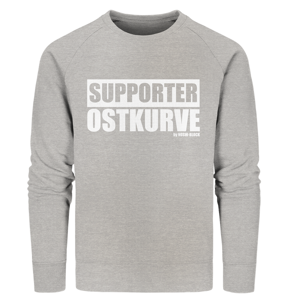 "Fanblock Sweater ""SUPPORTER OSTKURVE"" Männer Organic Sweatshirt heather grau"