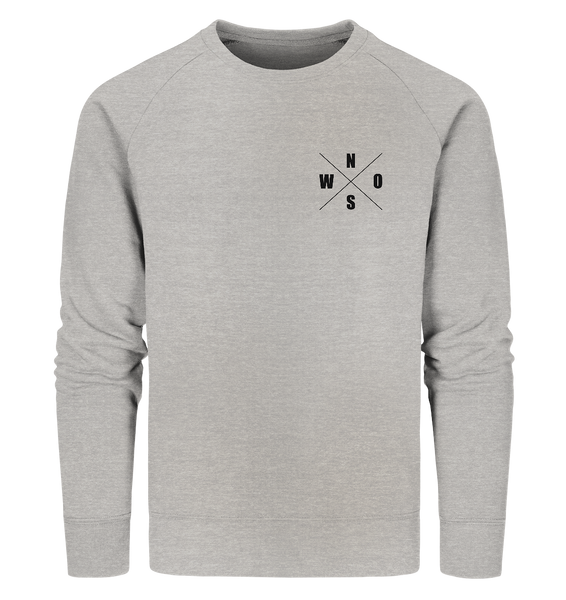 "N.O.S.W. BLOCK Sweater ""N.O.S.W. ICON"" Männer Organic Sweatshirt heather grau"
