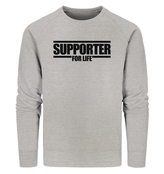 "SUPPORTER Hoodie ""SUPPORTER FOR LIFE"" Männer Organic Fashion Kapuzenpullover (85% Bio-Baumwolle, 15% recyceltes Polyester) - Organic Sweatshirt"