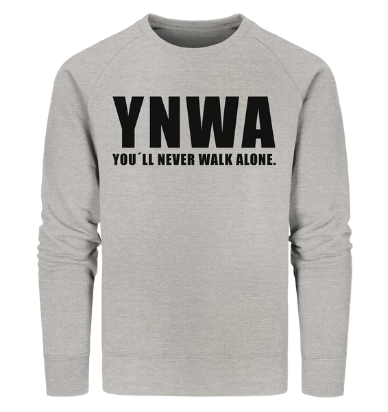 "Fanblock Sweater ""YNWA"" Männer Organic Sweatshirt heather grau"