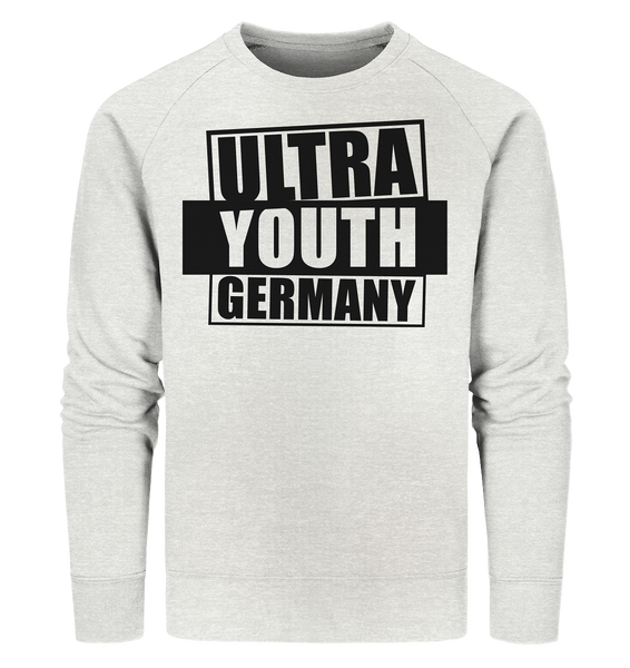 "Ultras Sweater ""ULTRA YOUTH GERMANY"" Männer Organic Sweatshirt creme heather grau"