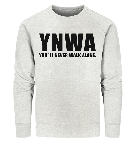 "Fanblock Sweater ""YNWA"" Männer Organic Sweatshirt creme heather grau"