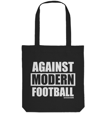 "Fanblock Tote-Bag ""AGAINST MODERN FOOTBALL"" Organic Baumwolltasche schwarz"