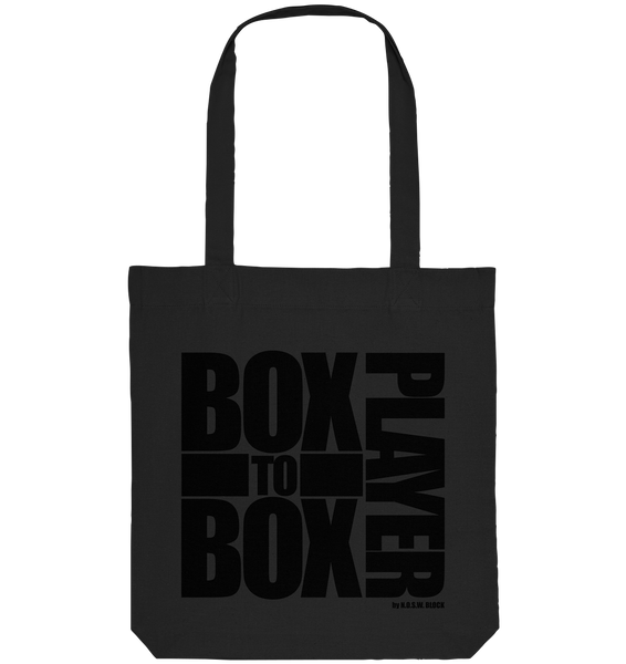 "Fanblock Tote-Bag ""BOX TO BOX PLAYER"" Organic Baumwolltasche schwarz"