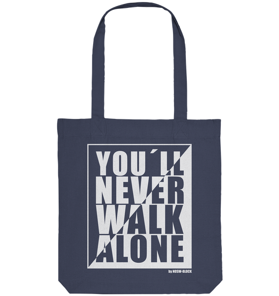 "Fanblock Tote-Bag ""YOU´LL NEVER WALK ALONE"" Organic Baumwolltasche dunkelblau"