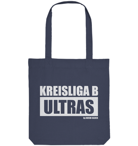 "Ultras Tote-Bag ""KREISLIGA B ULTRAS"" Organic Baumwolltasche midnight blue"