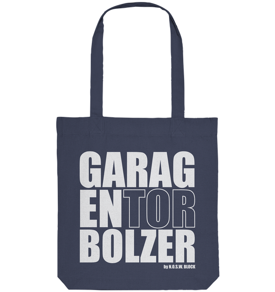 "Teamsport Tote-Bag ""GARAGENTORBOLZER"" Organic Baumwolltasche midnight blue"